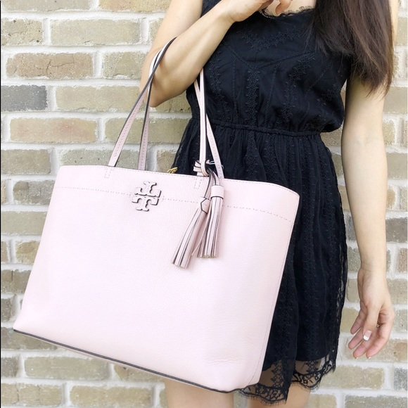 1c404d61f9c1 Tory Burch McGraw Leather Large Tote Pink